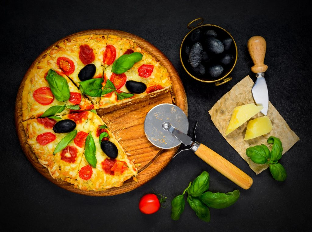 Sliced Pizza with Ingredients