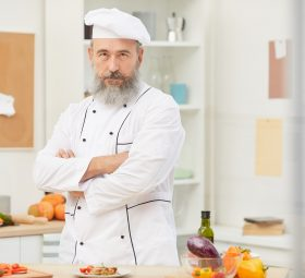 Professional Chef Posing with Confidence
